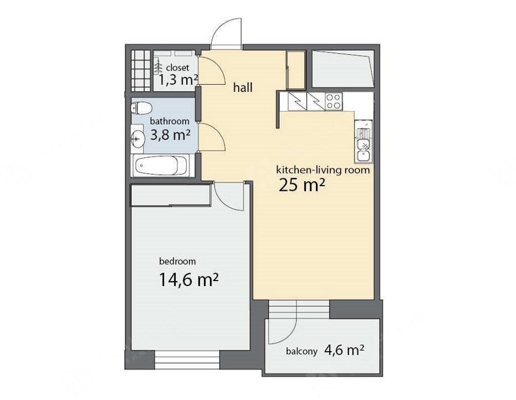 2-комнатная квартира, Фермское ш, 12Б - фото 9