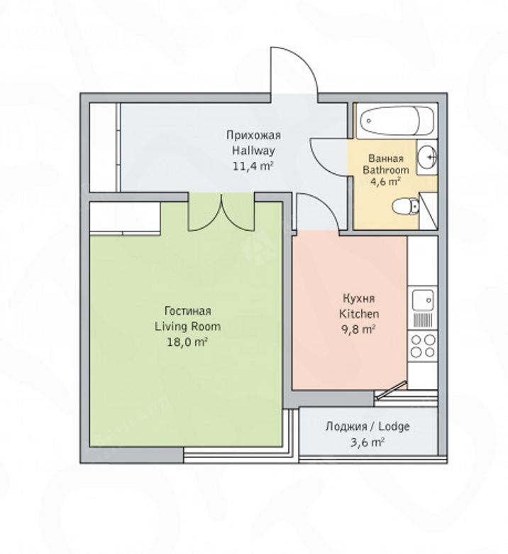 1-комнатная квартира, Детская ул, 18 - фото 6