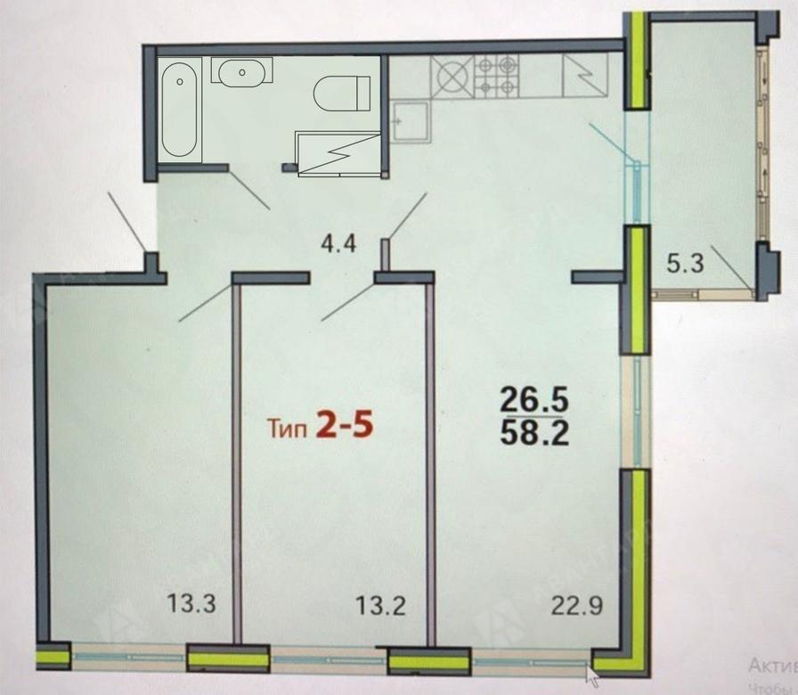 3-комнатная квартира, Республиканская ул, 24 к.1 - фото 11