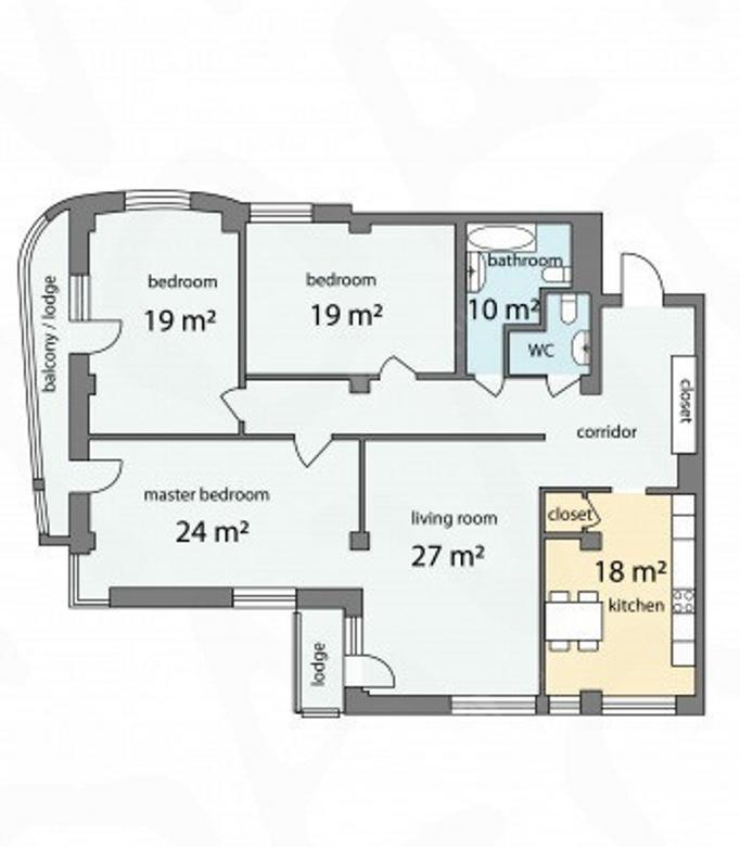4-комнатная квартира, Графтио ул, 5 - фото 9