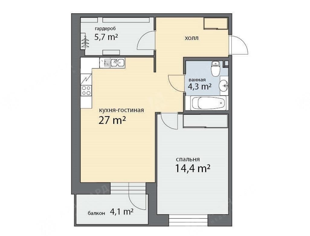2-комнатная квартира, Фермское ш, 12 - фото 5
