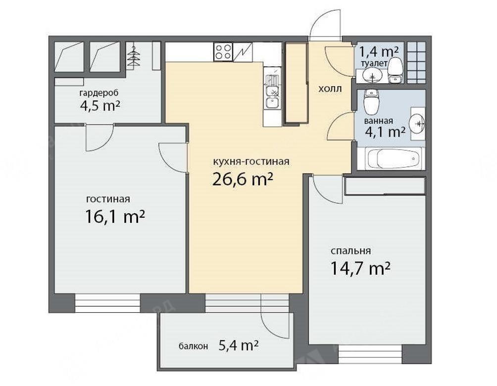 3-комнатная квартира, Фермское ш, 12Б - фото 7