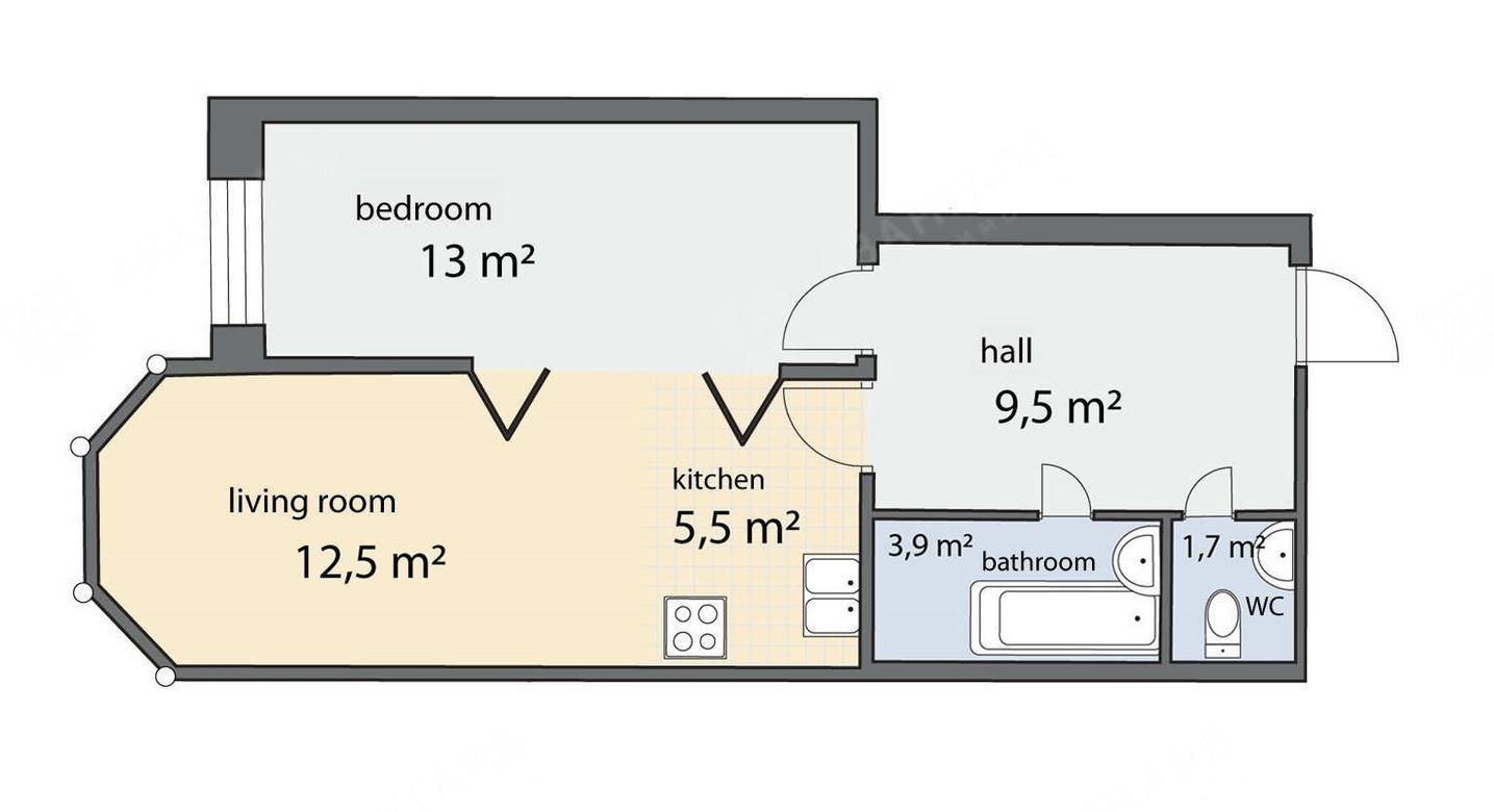2-комнатная квартира, Чернышевского пр-кт, 4 - фото 6