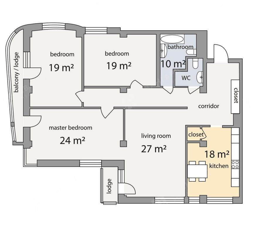 4-комнатная квартира, Графтио ул, 5 - фото 10
