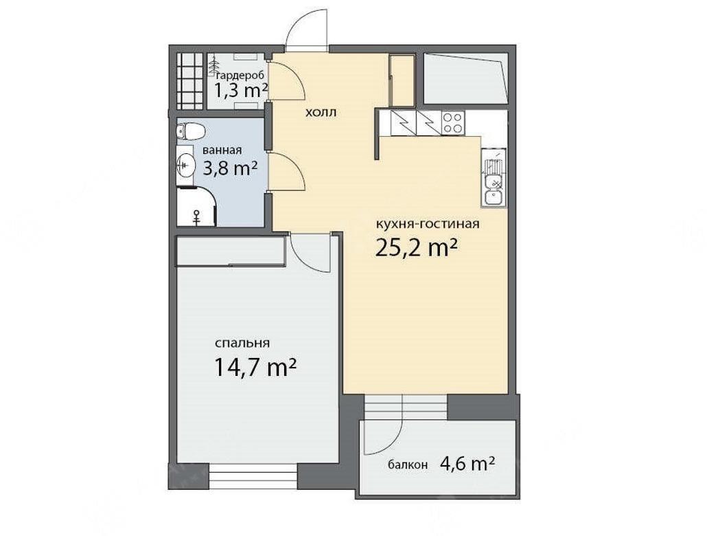 2-комнатная квартира, Фермское ш, 12 - фото 4