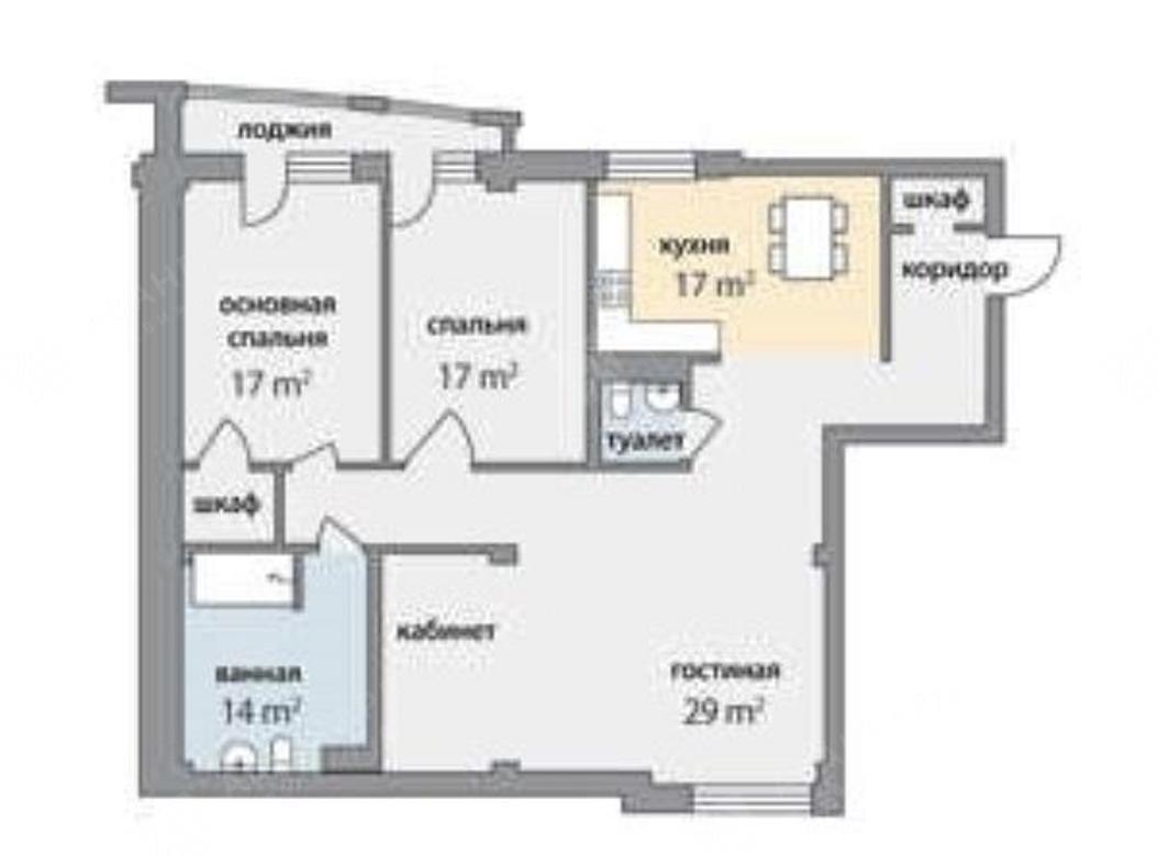3-комнатная квартира, Графтио ул, 5 - фото 15