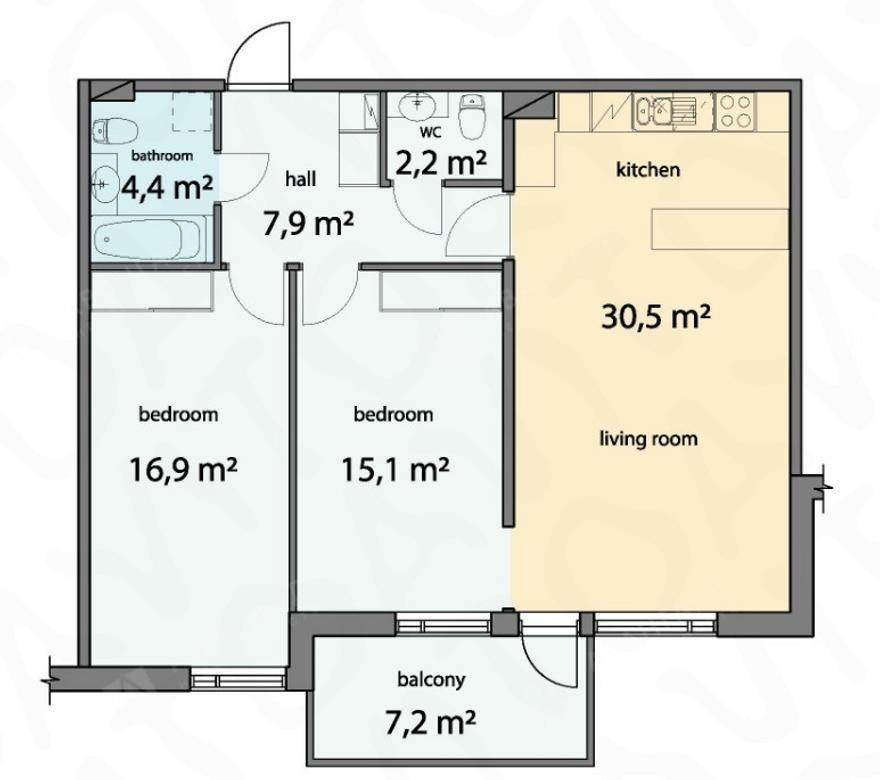 3-комнатная квартира, Барочная ул, 12 - фото 8