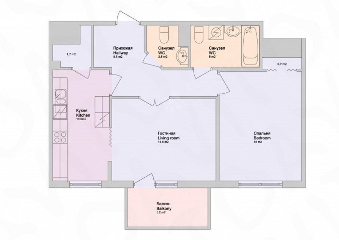 2-комнатная квартира, Обводного канала наб, 108 - фото 6