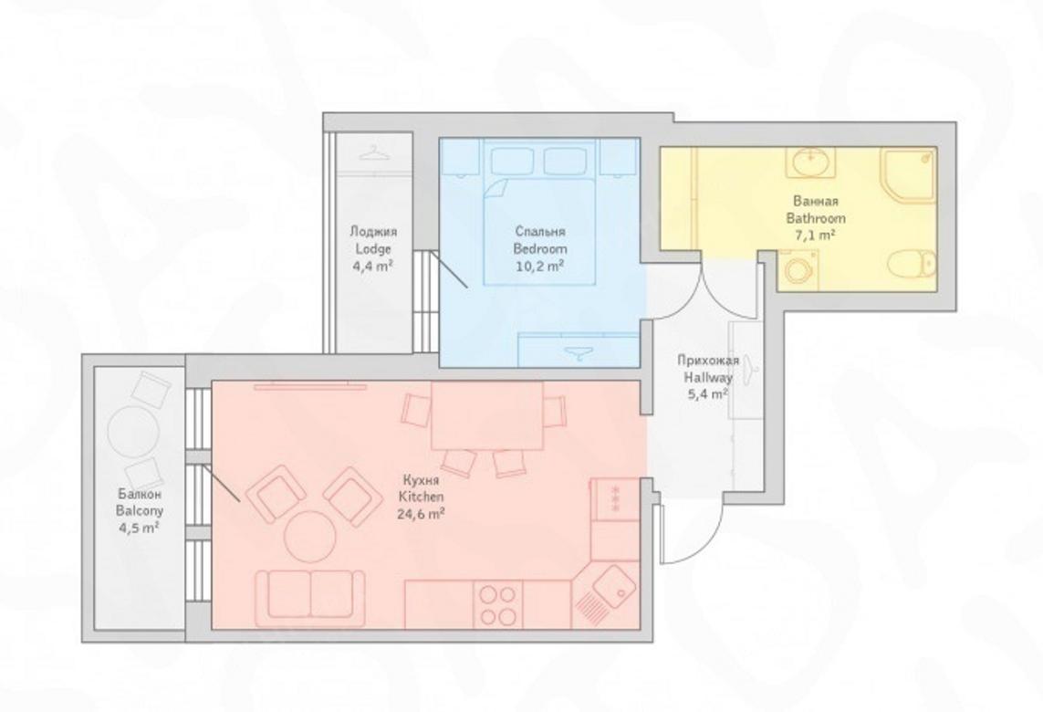 2-комнатная квартира, 11-я В.О. линия, 26 - фото 7