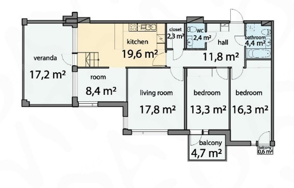 3-комнатная квартира, Барочная ул, д. 12 - фото 11