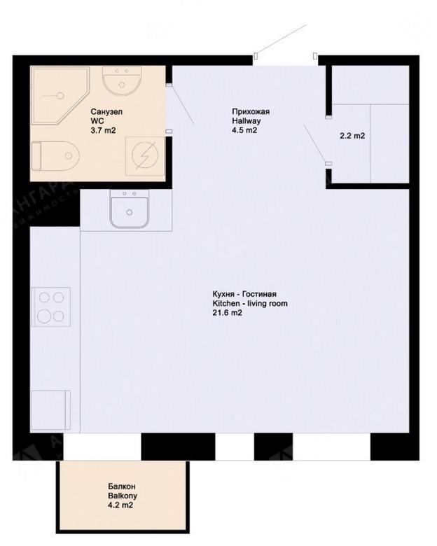 1-комнатная квартира, Аптекарский пр-кт, 18 - фото 6