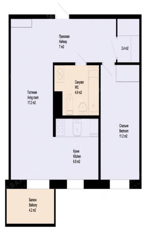 2-комнатная квартира, Аптекарский пр-кт, 18 - фото 9