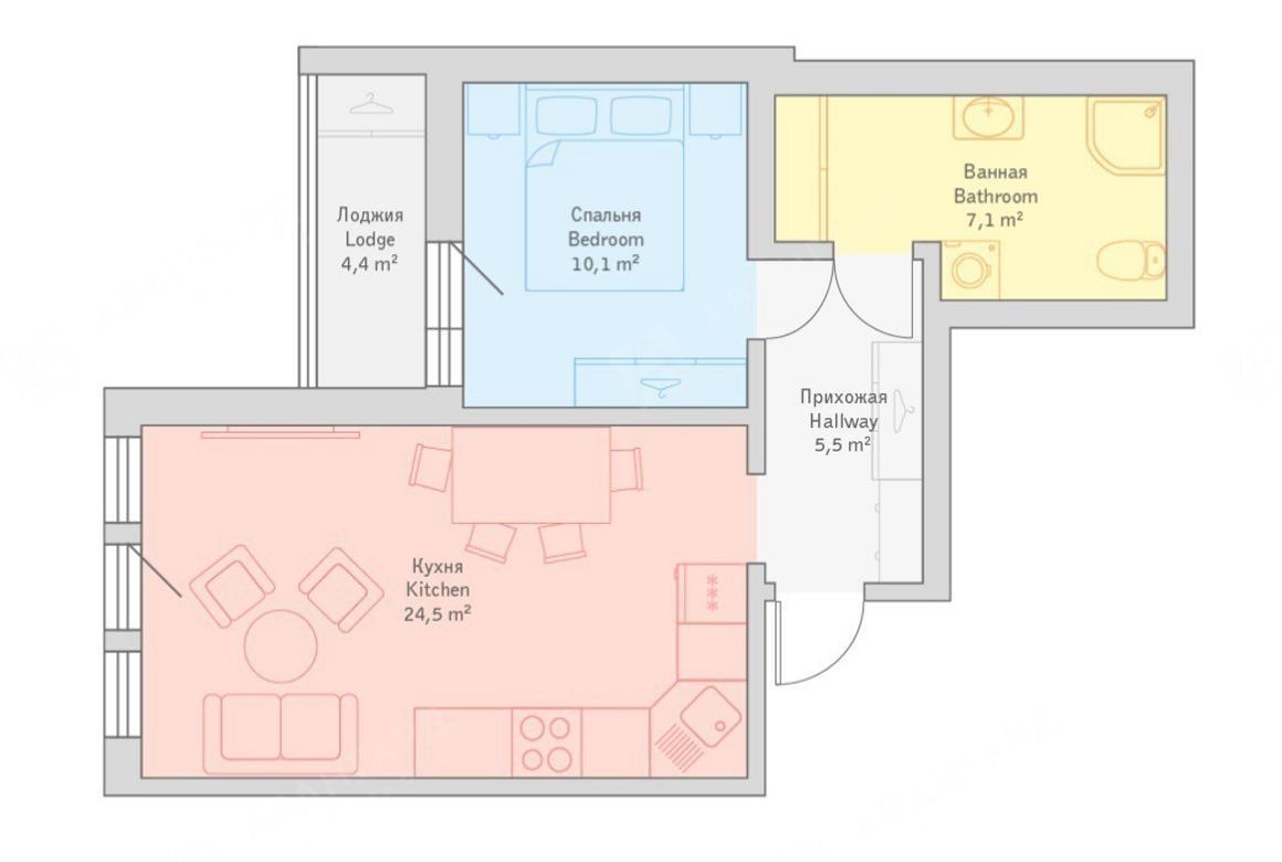 2-комнатная квартира, 11-я В.О. линия, 26 - фото 6