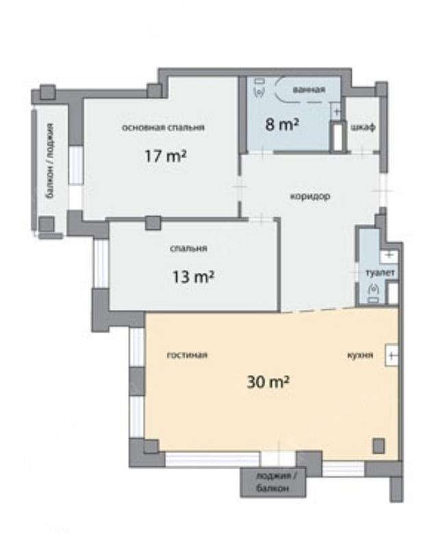 3-комнатная квартира, Графтио ул, 5 - фото 7
