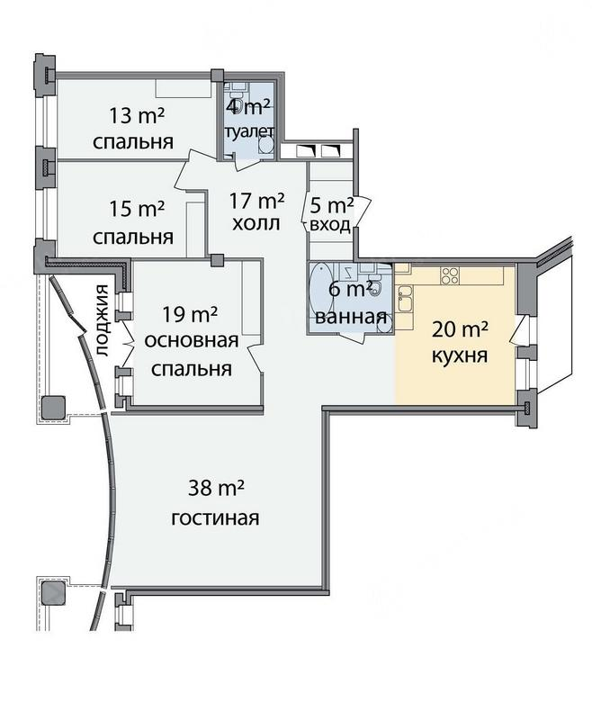 4-комнатная квартира, Морской пр-кт, 33 - фото 25