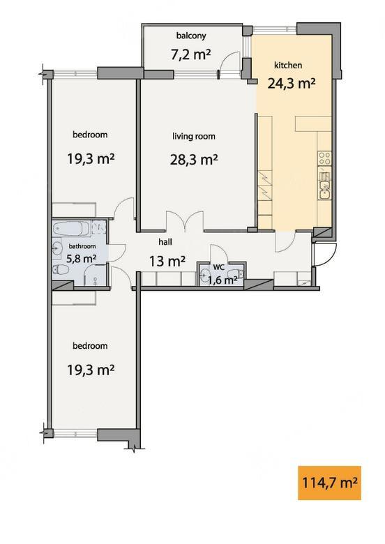 3-комнатная квартира, Барочная ул, 12 - фото 18