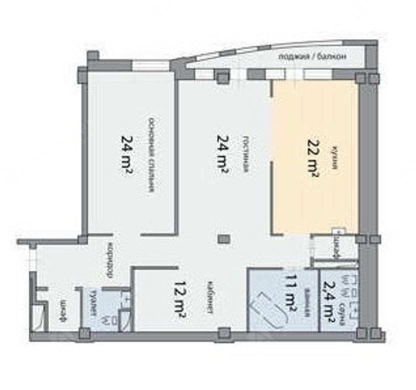 3-комнатная квартира, Графтио ул, 5 - фото 17