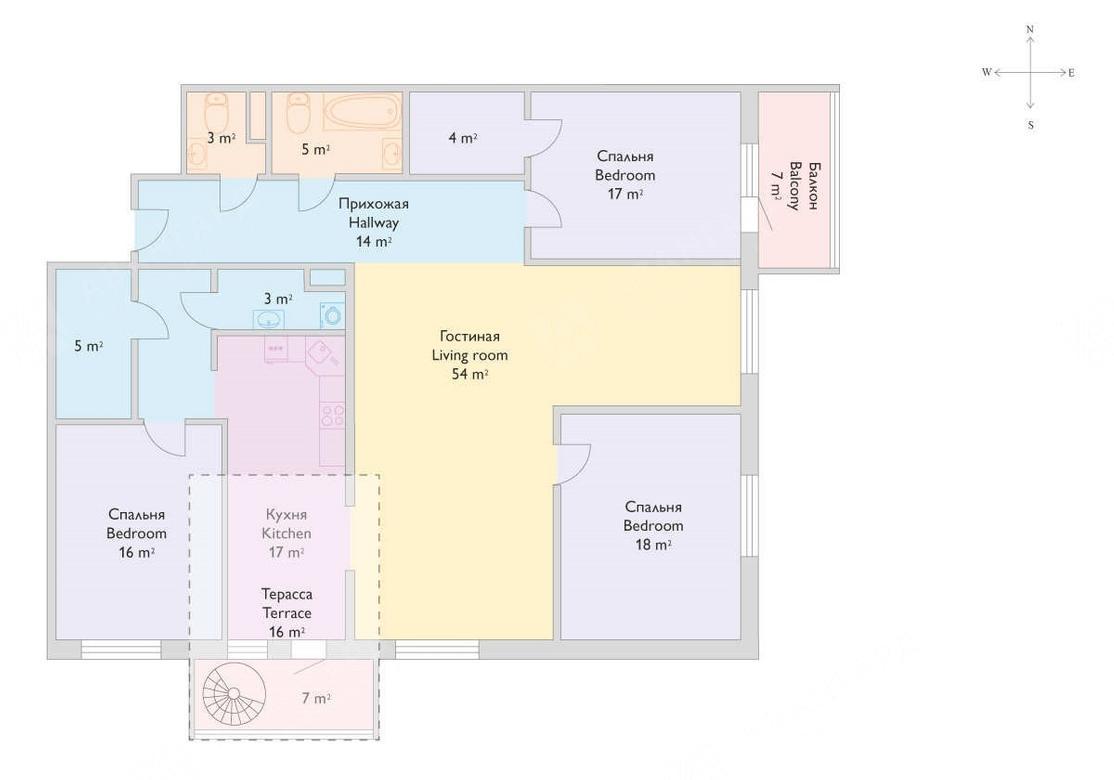 4-комнатная квартира, Реки Смоленки наб, 35 - фото 16