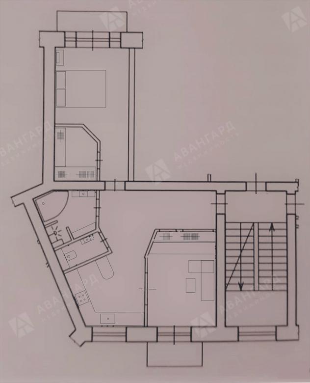 2-комнатная квартира, Чёрной речки наб, 10 - фото 16
