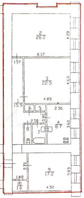 3-комнатная квартира, 11-я В.О. линия, 44 - фото 25