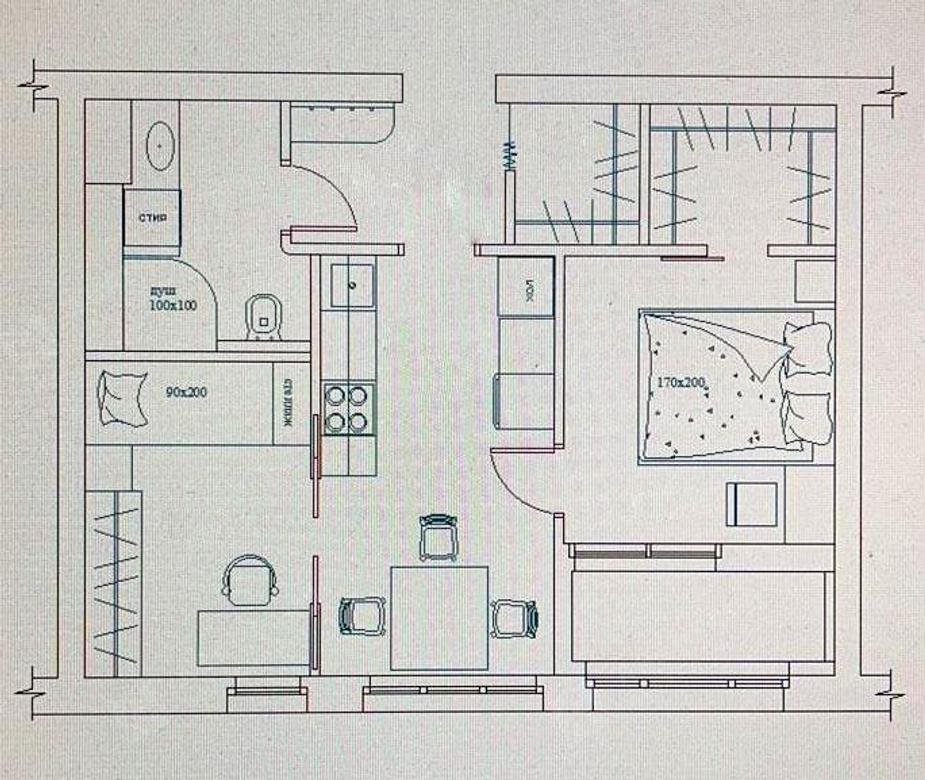 2-комнатная квартира, Обуховской Обороны пр-кт, 195 лит.А - фото 10