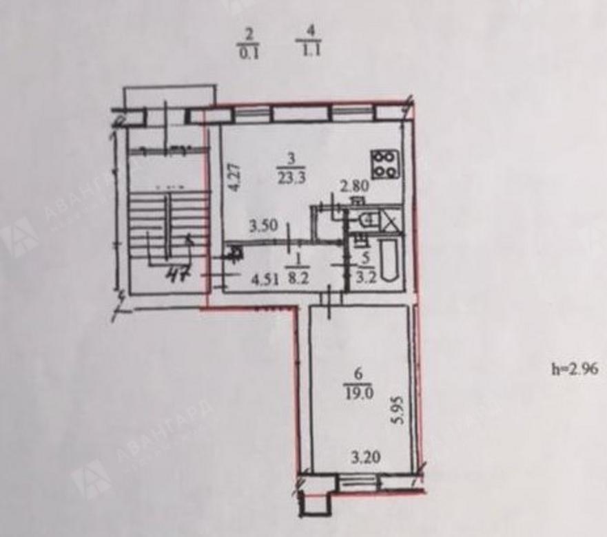 2-комнатная квартира, Металлистов пр-кт, 64 - фото 10